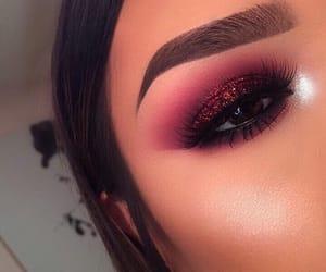 burgundy, eyeshadow, and goals image