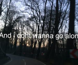 alone, road, and sad image