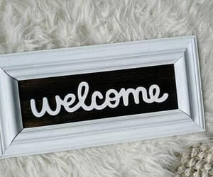 etsy, farmhouse decor, and wooden welcome sign image