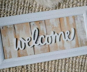 etsy, white decor, and reclaimed wood sign image