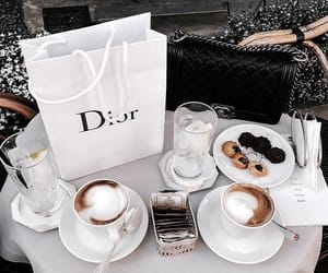 coffee, dior, and aesthetic image