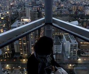 city, evening, and lights image