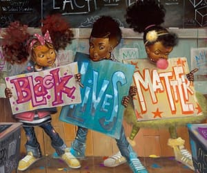 black, art, and kids image