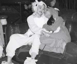 b&w, miley cyrus, and ariana grande image