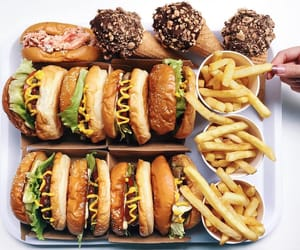 food, fries, and ice cream image
