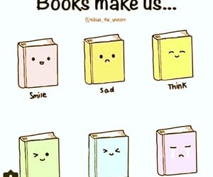 book, cry, and smile image