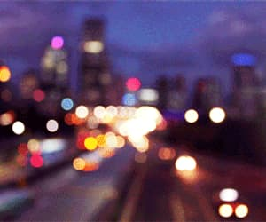 city, gif, and traffic image