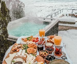 breakfast, snow, and food image