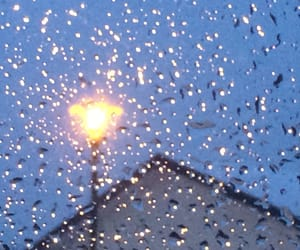 lampadaire, photographie, and pluie image