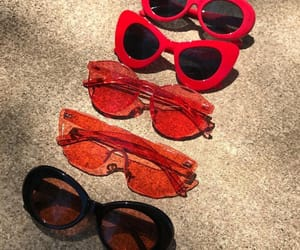 fashion, red, and glasses image