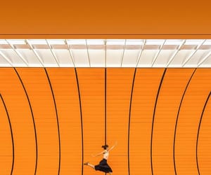 minimalism, train, and orange image