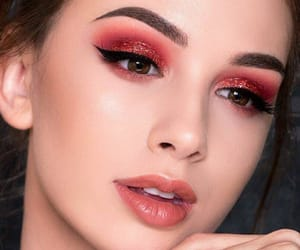 beautiful, eyeshadow, and face image