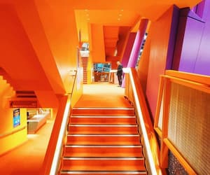 orange, stairs, and steps image