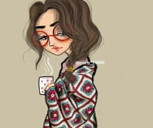 alone, girl, and coffee image