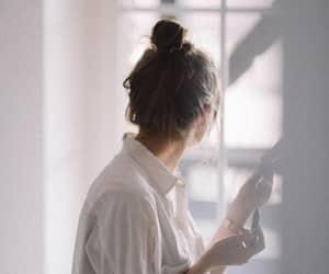 girl, tumblr, and window image