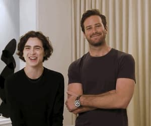 armie hammer, timothee chalamet, and call me by your name image