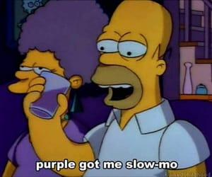 simpsons, lean, and purple image