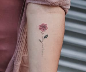 tattoo, flower, and red image