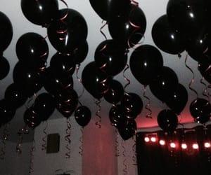 alternative, black, and balloons image