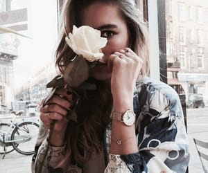 flowers, fashion, and blue image