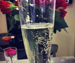 champagne, roses, and style image