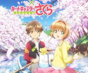 sakura, syaoran, and anime couple image