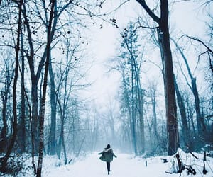 cold, snow, and travel image