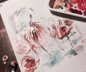 art, painting, and pink image