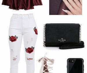 black, burgundy, and clothes image