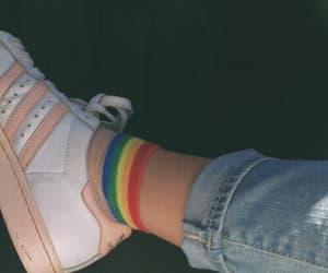 rainbow, adidas, and aesthetic image