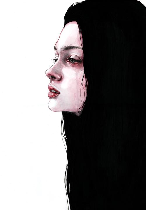 art, sad, and drawing image