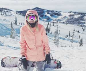 outdoor, snow, and snowboard image