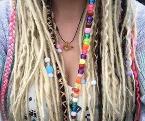beads, dreadlocks, and hair image