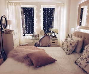 bedroom, decoration, and elegant image