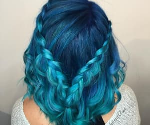 blue, hair, and style image