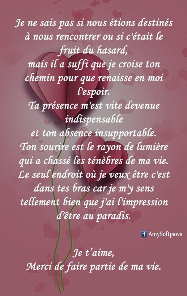 Texte Amour Amy Softpaws On We Heart It