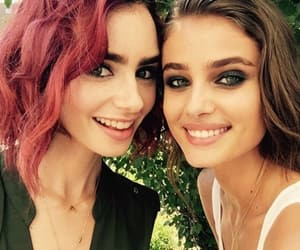 lily collins, taylor hill, and model image
