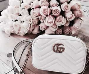 flowers, gucci, and rose image