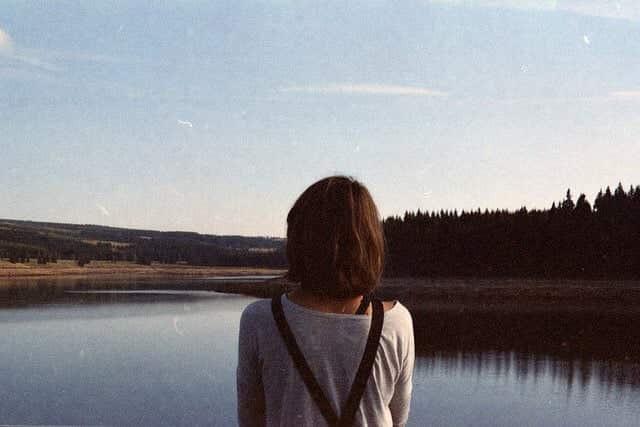 girl, sky, and vintage image