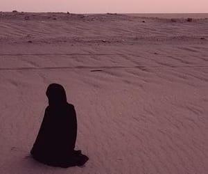 desert and praying image