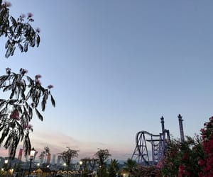 aesthetic, clear sky, and Roller Coaster image
