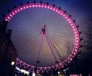ferris wheel, lights, and london eye image