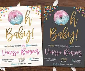 etsy, baby shower invite, and donut invitation image