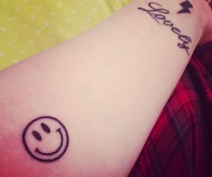 arm, black, and smiley face image