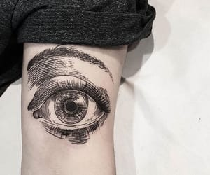 black, sketch, and tattoo image