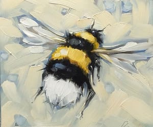 art, bee, and painting image