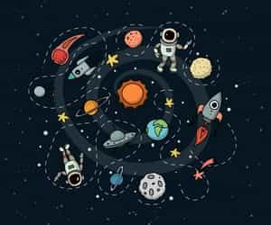 planets and space image