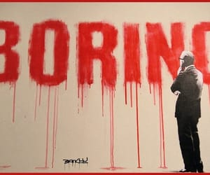 boring, red, and street art image
