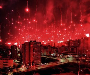 celebration, city, and red image