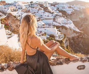 adventure, blonde, and city image